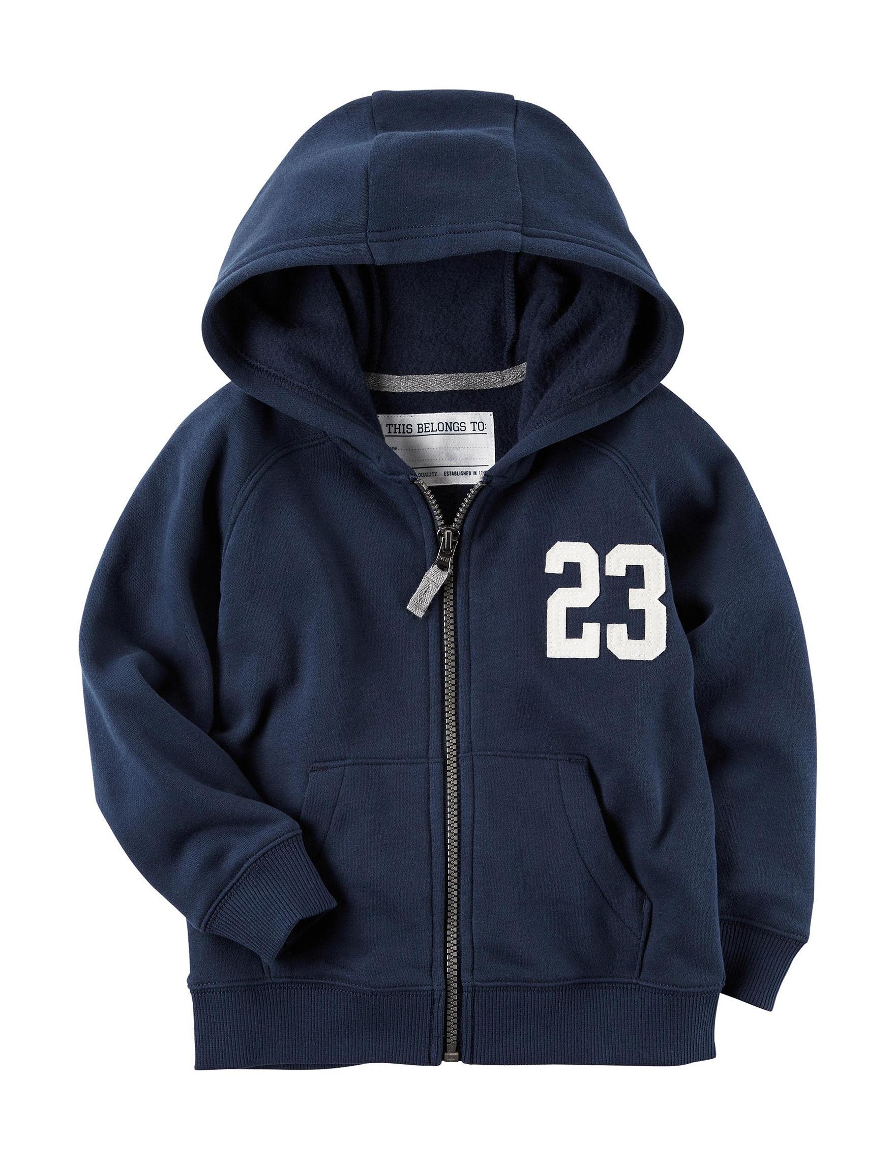 Carter's Blue Fleece & Soft Shell Jackets