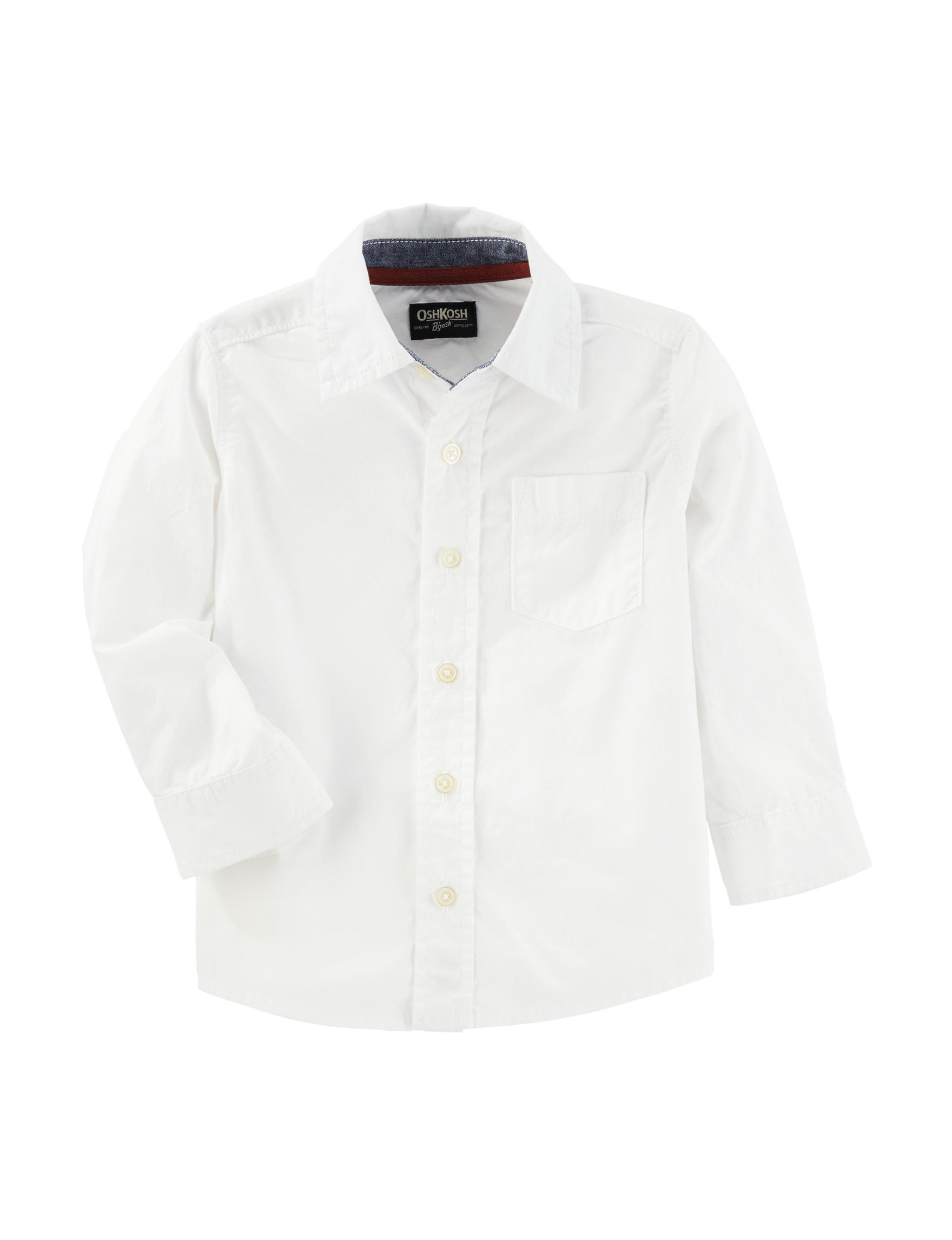 Oshkosh B'Gosh White Casual Button Down Shirts