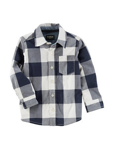 Oshkosh B'gosh Gingham Poplin Woven Shirt - Toddler Boys