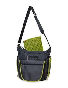 Fisher-Price Grey / Green Diaper Bags