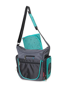Fisher-Price Teal / Grey Diaper Bags