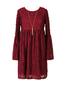 Speechless Crochet Knit Dress - Girls 7-16