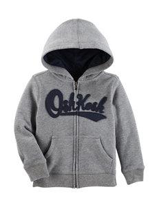 Oshkosh B'Gosh Heather Grey Fleece & Soft Shell Jackets