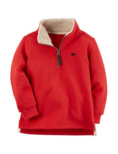 Carter's Red Fleece & Soft Shell Jackets
