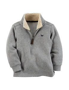 Carter's Heather Grey Fleece & Soft Shell Jackets