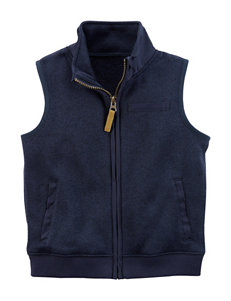Carter's Navy Fleece & Soft Shell Jackets
