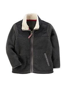 Carter's Grey Fleece & Soft Shell Jackets