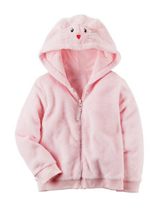 Carter's Light Pink Fleece & Soft Shell Jackets