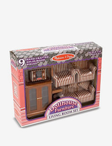 Melissa & Doug Dollhouse Living Room Furniture