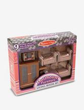 Melissa & Doug Dollhouse Living Room Furniture