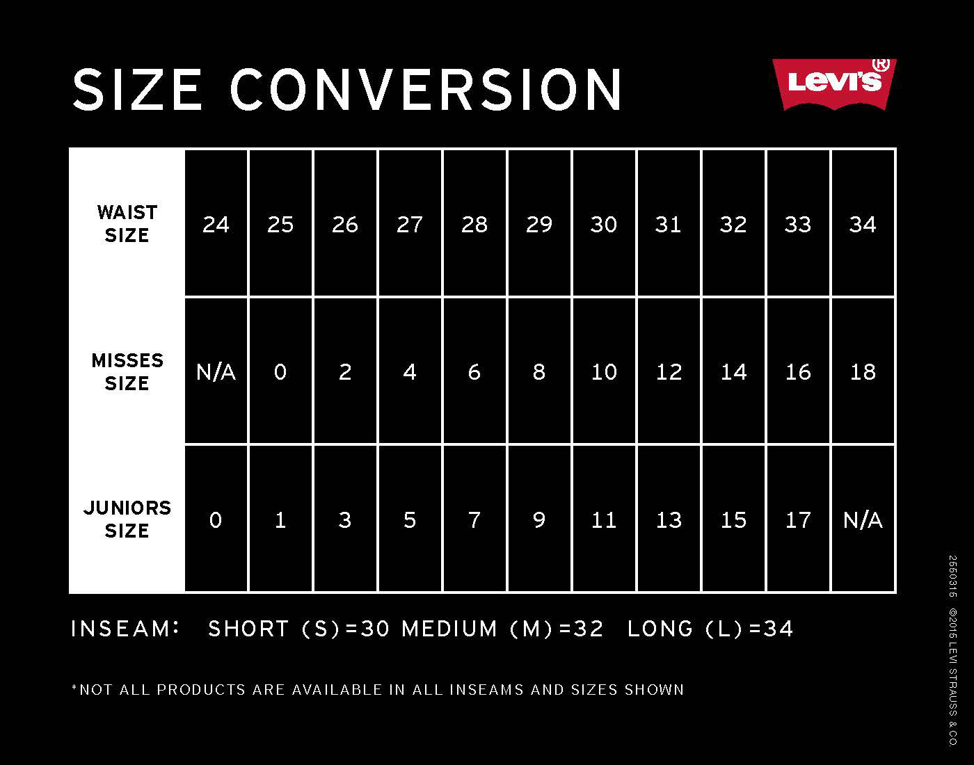 Levis jeans size chart conversion size chart for levis womens hd image of levis jeans size chart conversion size charts international size nvjuhfo Images