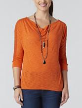 Democracy Solid Color Knit Top
