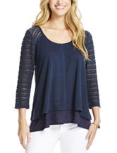 Jessica Simpson Trist Tiered Knit Top