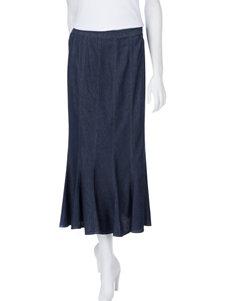 Studio West Flared Denim Skirt