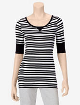 Hannah Sport Striped Print Knit Top – Misses