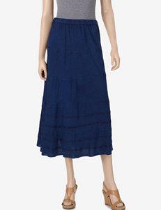 Studio West Blue Ribbon Midi Skirt