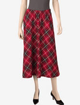 Cathy Daniels Pull-On Plaid Skirt – Misses