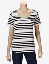 Hannah Black & Green Striped T-shirt – Misses