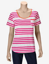 Hannah Pink & Orange Striped T-shirt – Misses