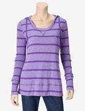 GV Sport Kensley Hooded Striped Tunic Top – Misses