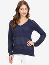 Nautica Navy Mesh Tunic Sweater – Misses