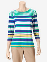 Ruby Rd. Striped Boat Top – Misses