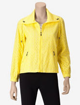 Ruby Rd. Yellow Eyelet Jacket – Misses