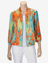 Ruby Rd. Ikat Zip Soft Jacket – Misses