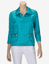 Ruby Rd. Metallic Windbreaker Jacket – Misses