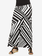 Allison Taylor Black & White Geometric Striped Maxi Skirt – Misses