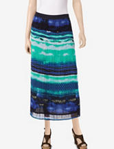 Valerie Stevens Watercolor Pleated Maxi Skirt – Misses