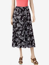 Erika Black Combo Print Panel Skirt – Misses