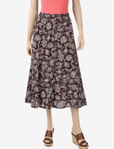 Erika Brown Antonia Print Panel Skirt – Misses