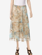 Alfred Dunner When In Rome Paisley Print Tiered Skirt – Misses