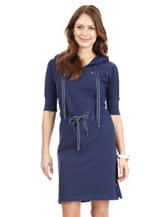Nautica Navy Piqué Hoodie Dress – Misses