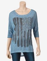 Hannah Stars & Stripes Knit Top – Misses