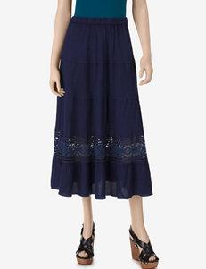 Studio West Dark Denim Wash Tiered Skirt – Misses