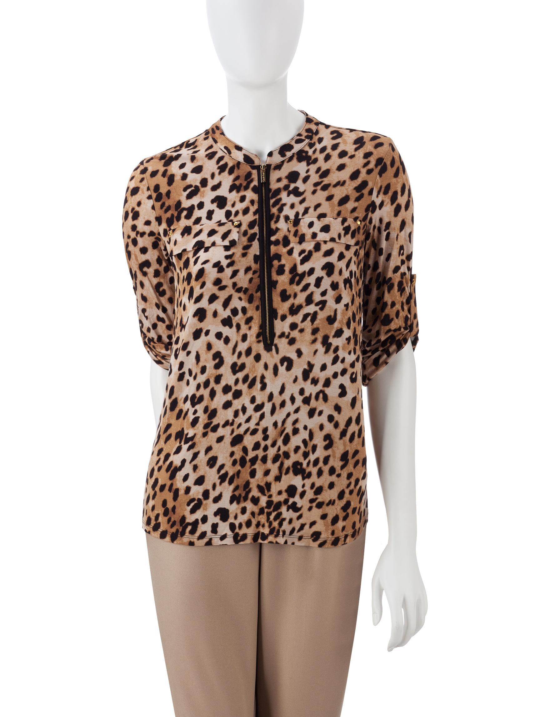Calvin Klein Animal Print Shirts & Blouses