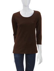 Rebecca Malone Coffee Shirts & Blouses Tees & Tanks