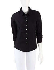 Dockers Black Shirts & Blouses