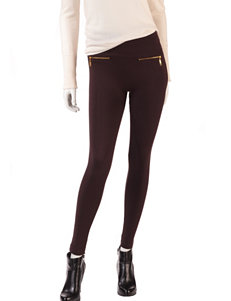 One 5 One Solid Color Zip Accent Ultra Soft Fleece Leggings