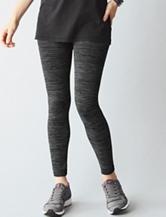 One 5 One Black & Gray Space Dye Ultra Soft Fleece Leggings
