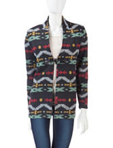 Energé Multicolor Tribal Print Toggle Jacket