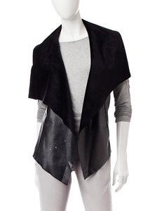Ruby Road Plush Faux Leather Vest