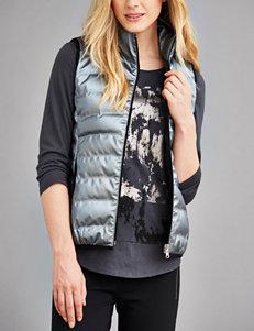 Calvin Klein Jeans Metallic Grey Vests