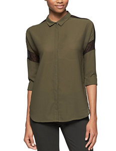 Calvin Klein Jeans Olive Shirts & Blouses