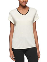Calvin Klein Jeans White V-neck Top