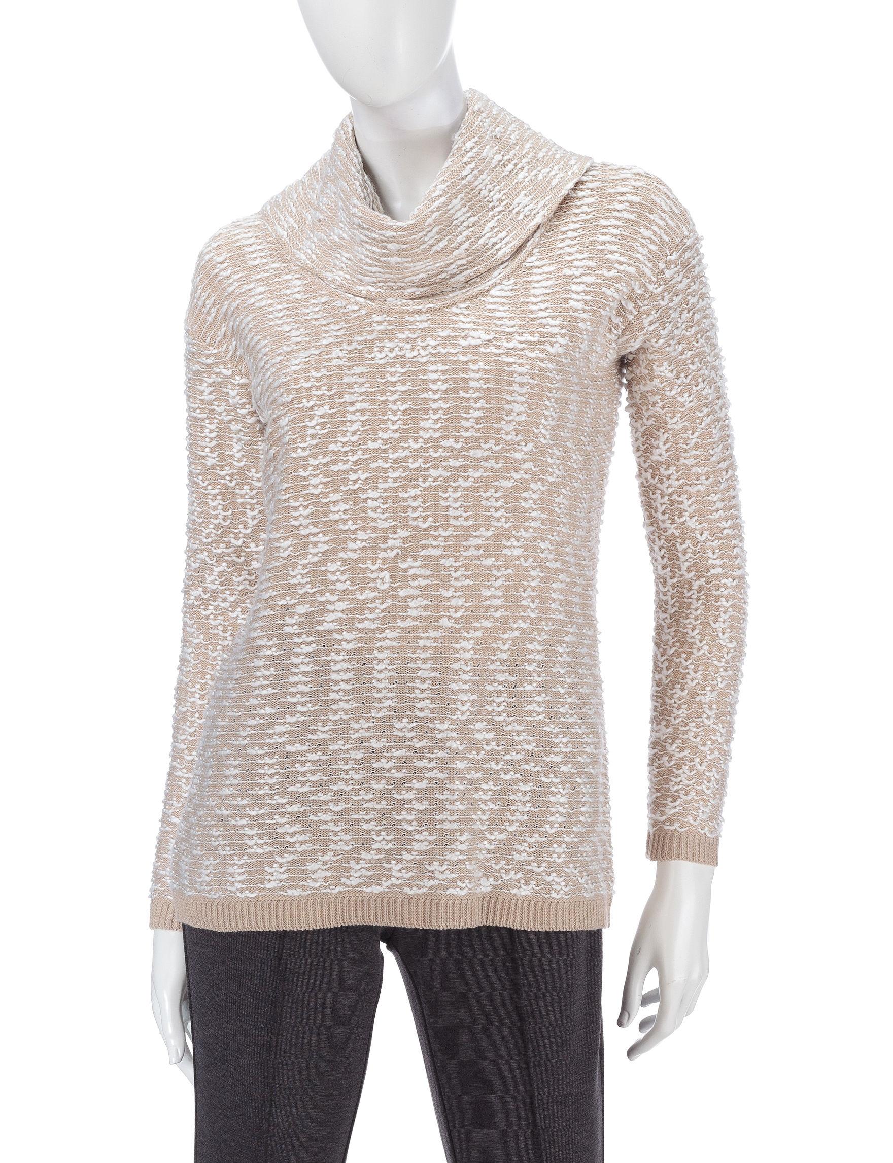 Calvin Klein Tan Multi Pull-overs Sweaters