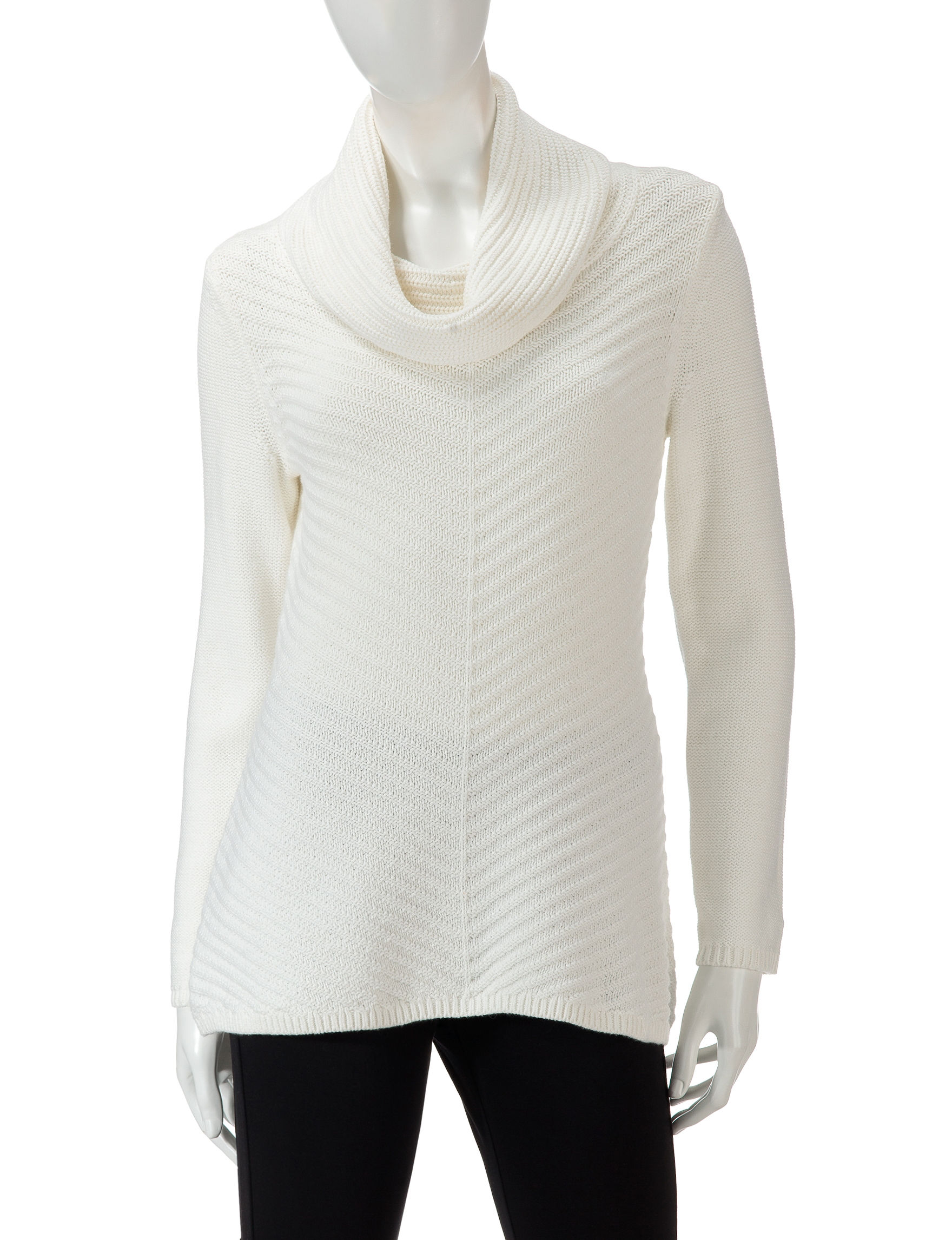 Valerie Stevens Cream Pull-overs Sweaters