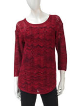 Hannah Shimmering Wave Knit Sweater